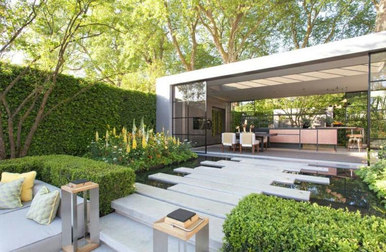 chemin de jardin moderne