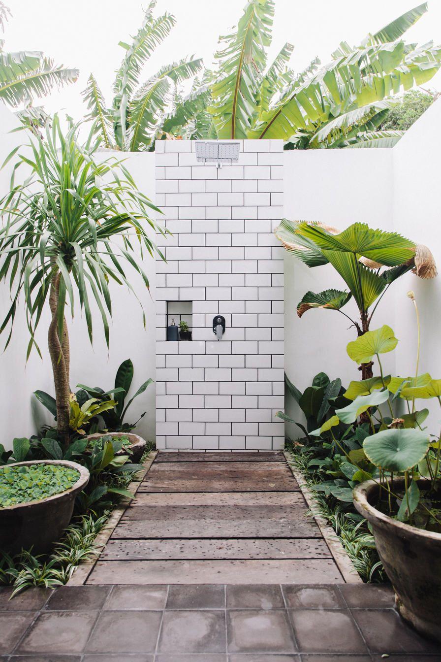 jardins avec douche dorigine