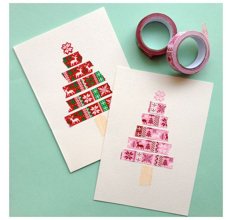 Joyeux Noël cartes-washi-tape-options