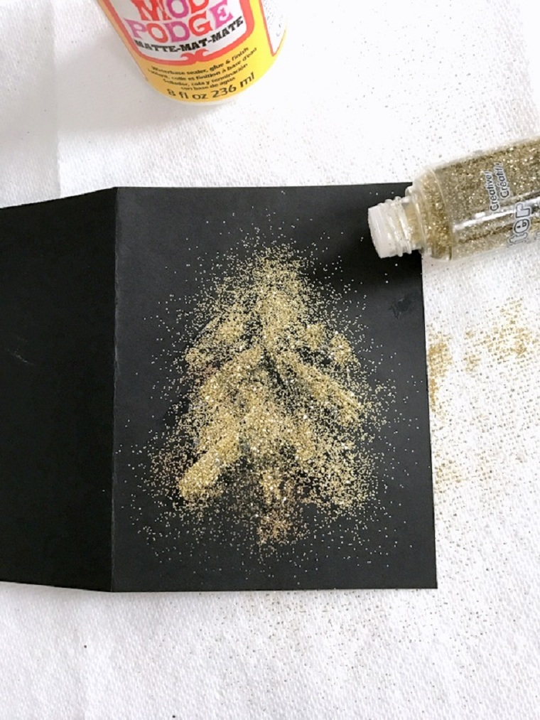 carte-noël-style-élégant-paillettes-doré
