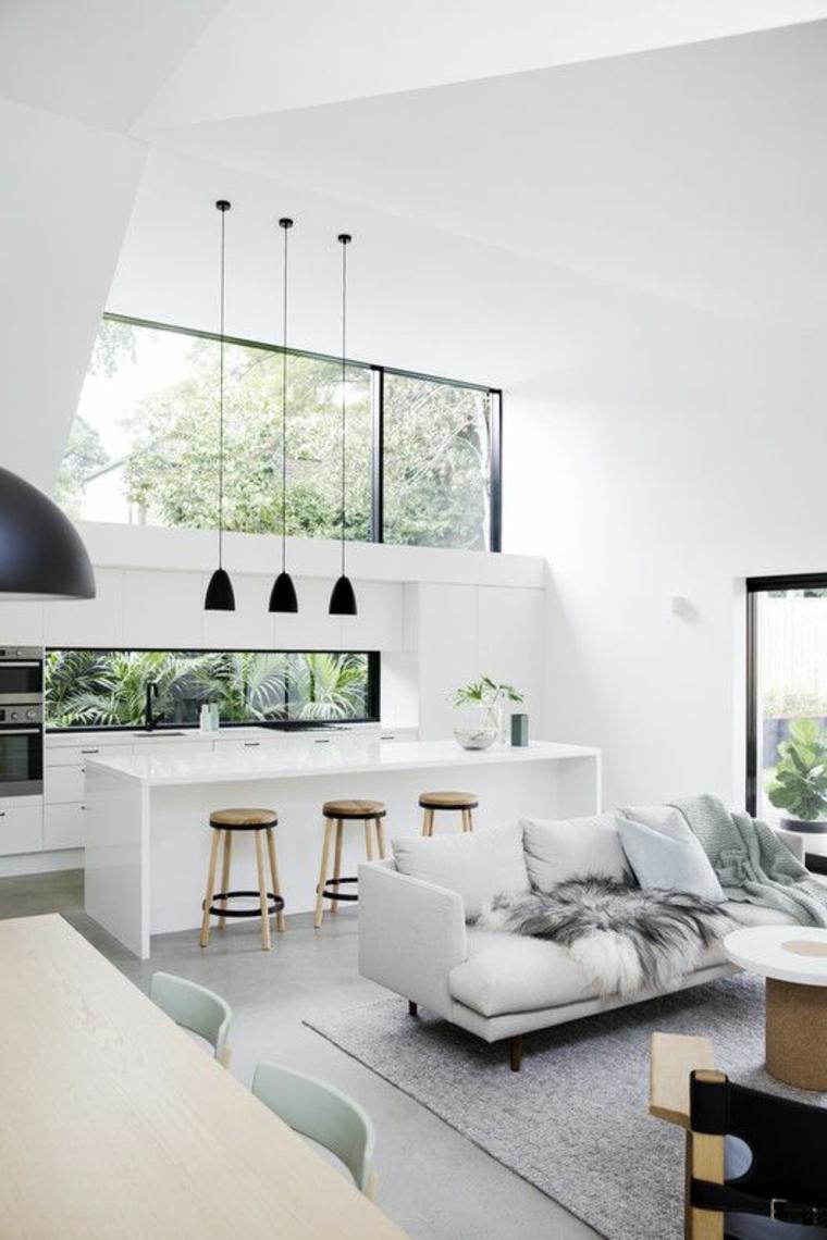 cuisine-blanche-avec fenêtre