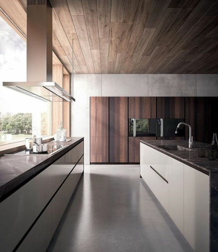 tableau de bord fenêtre minimaliste cuisine