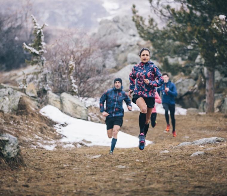 course à la montagne