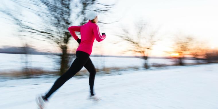 course à pied en hiver