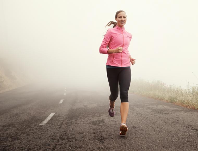 courir dans le brouillard