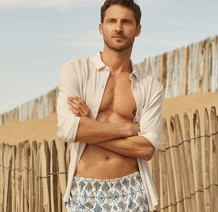 mode homme-chemise de plage