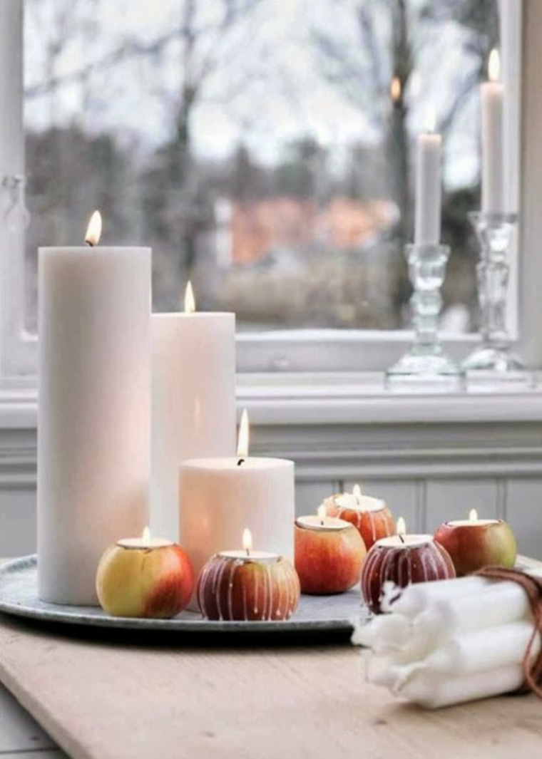 bougies pommes