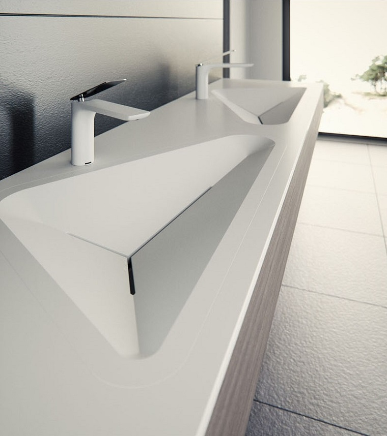 design monolithe de lavabo moderne