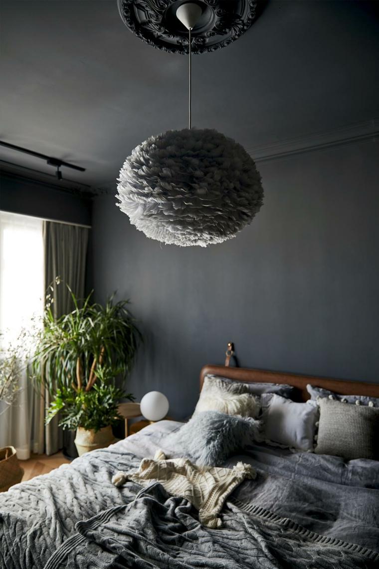 intérieur chambre grise