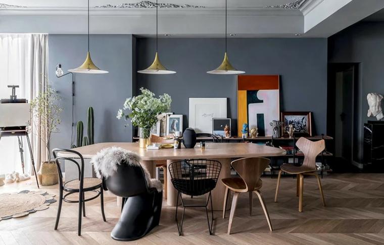 intérieur-salle à manger moderne