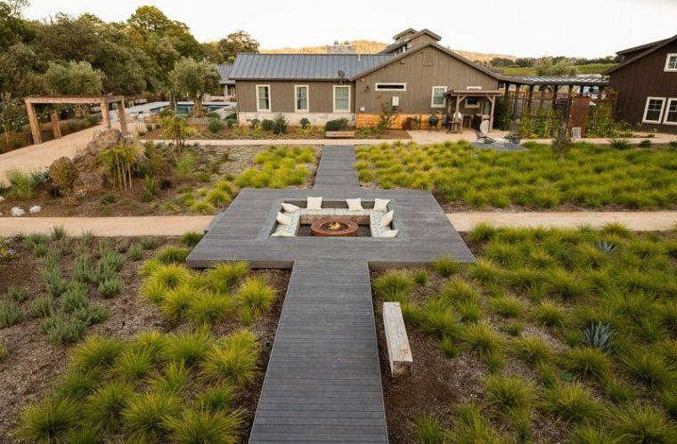 jardin unique et moderne
