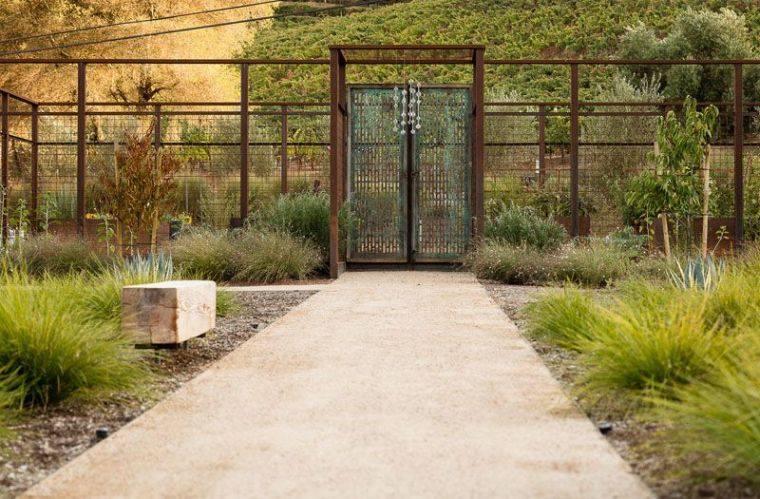 corten de jardin en acier moderne