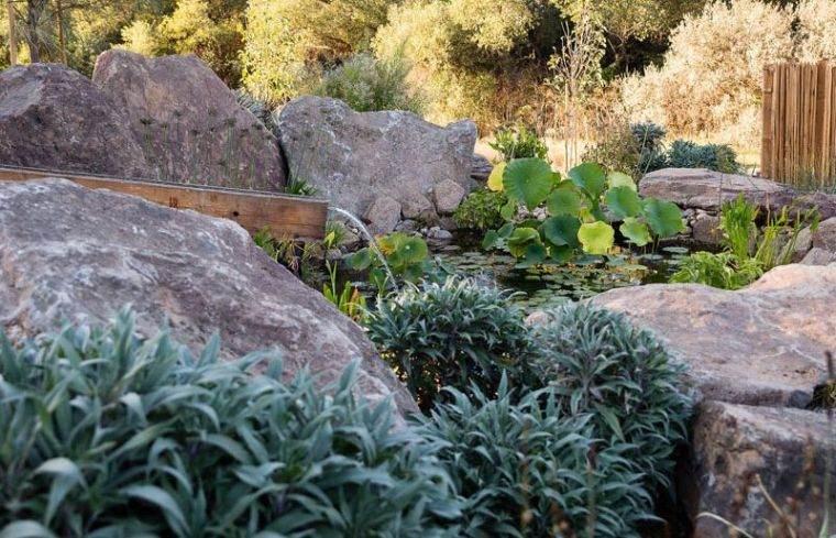 fontaine deau dans le jardin