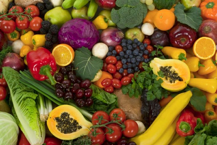 couleurs de fruits et légumes