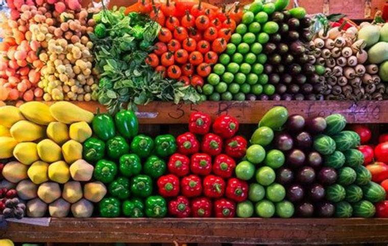 marché par couleurs