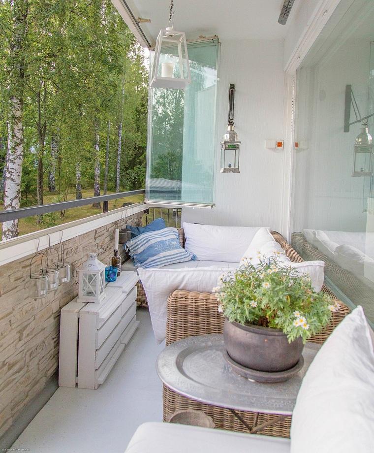 balcon dhiver décorer des espaces étroits
