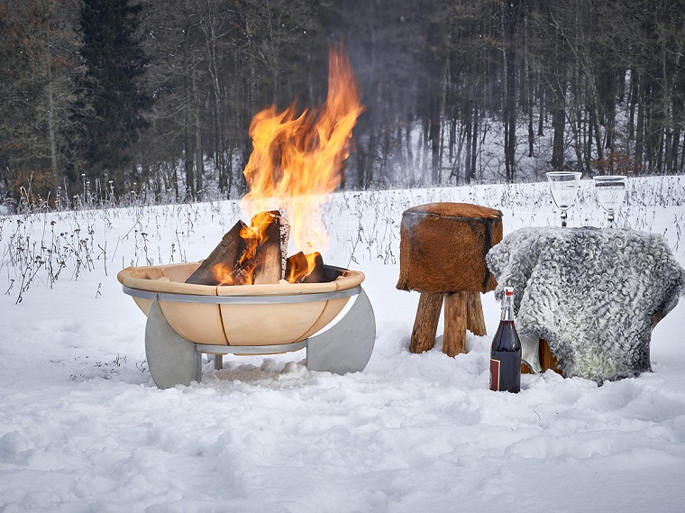 bien-feu-décorer-extérieur-hiver