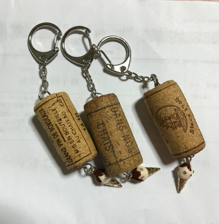 Porte-clés en liège DIY