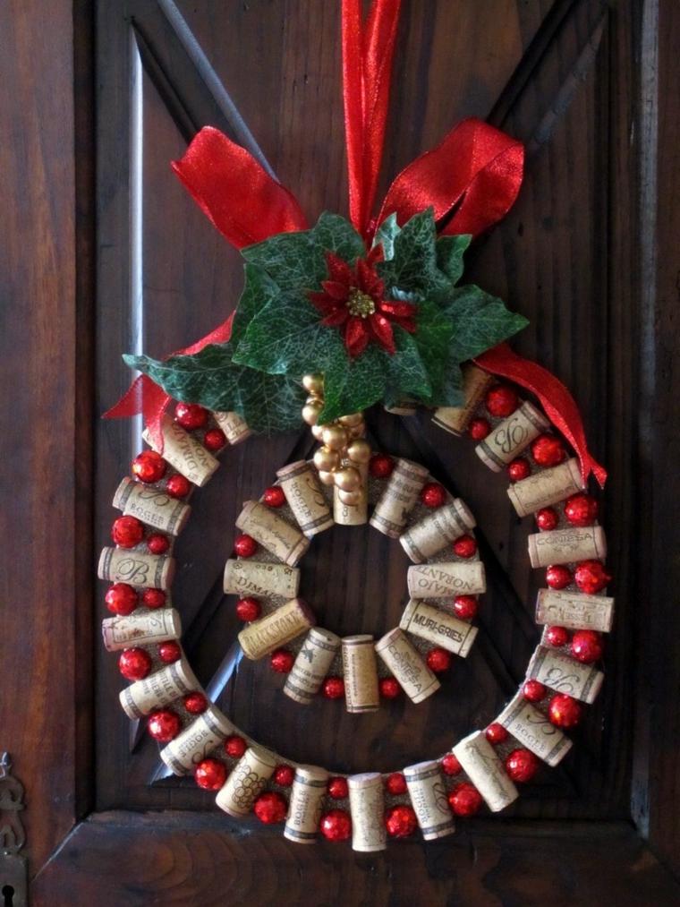 Couronne décorative de bouchons en liège