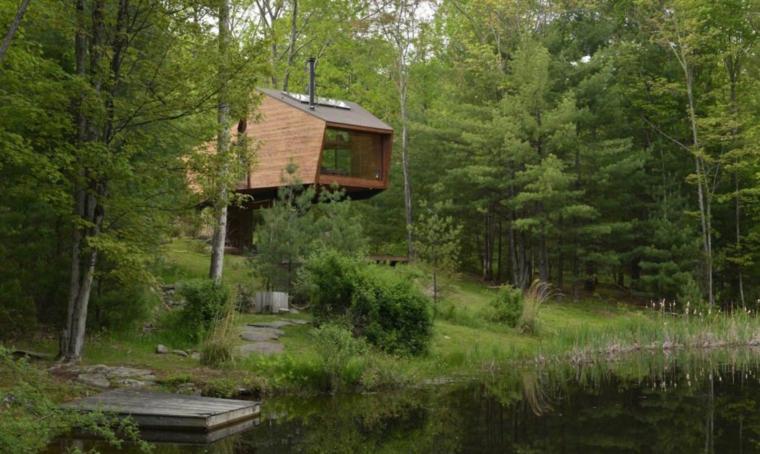 maison dans un arbre moderne