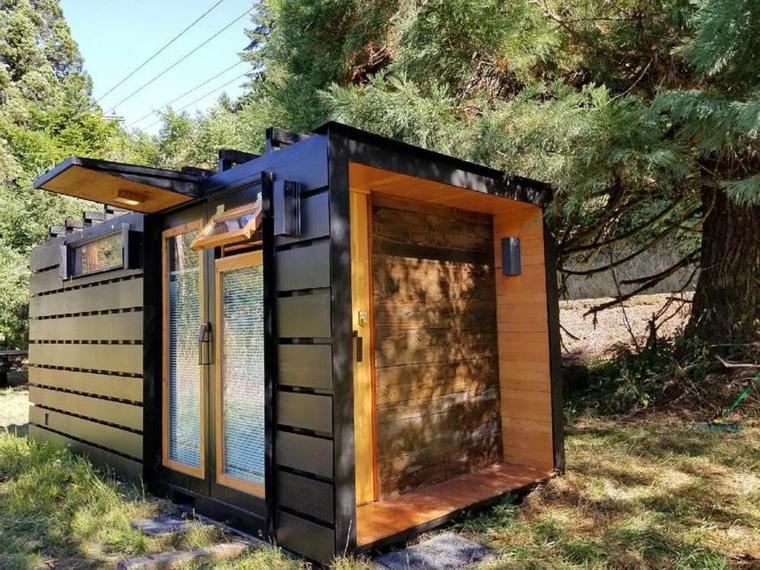 maisons faites de conteneurs recyclés