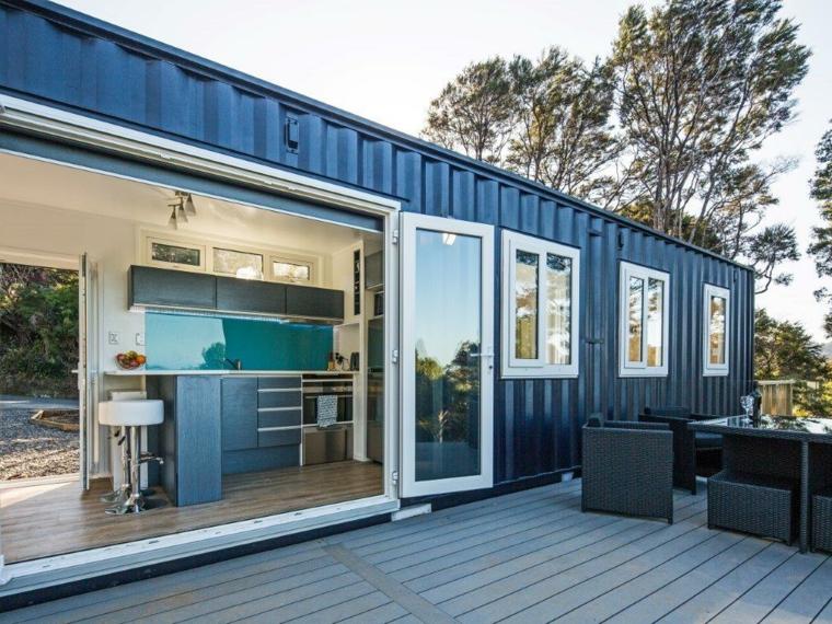 maison moderne en conteneur recyclé