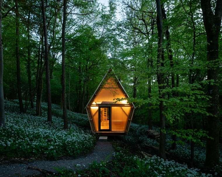 maisons mobiles-architecture-conremporanea-maison-forêt