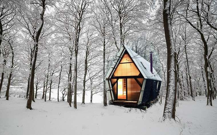 maisons mobiles architecture-conremporanea-casa-bosque-nevado