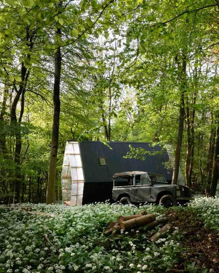 maisons mobiles petite maison-forêt