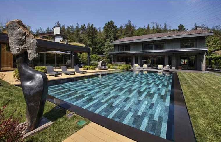 maisons modernes-jardin-idées-piscine