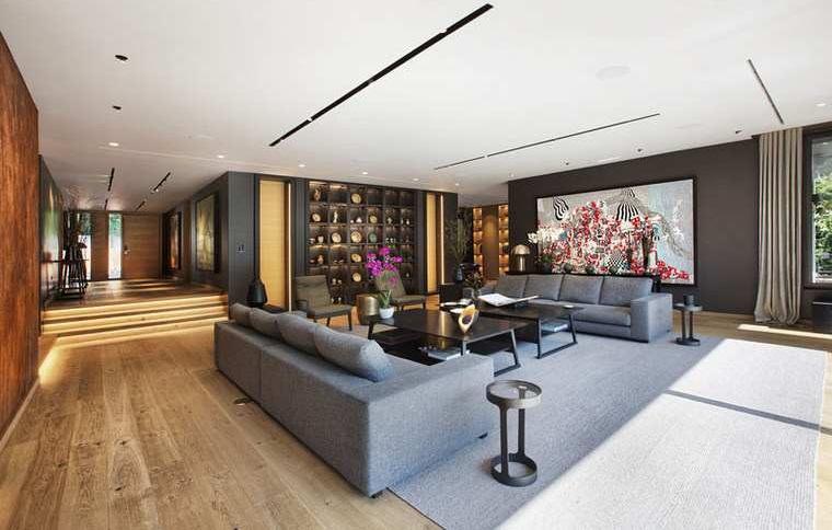 maisons modernes-interieur-design-salle-canapés-photo