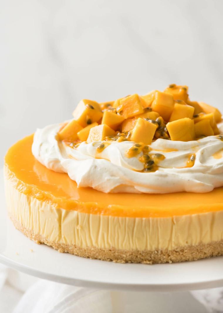 Gâteau au fromage à la mangue