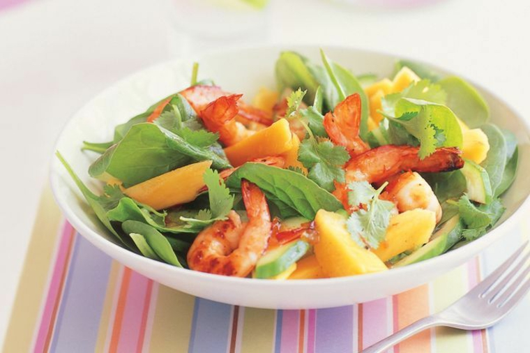 Salade de crevettes à la coriandre