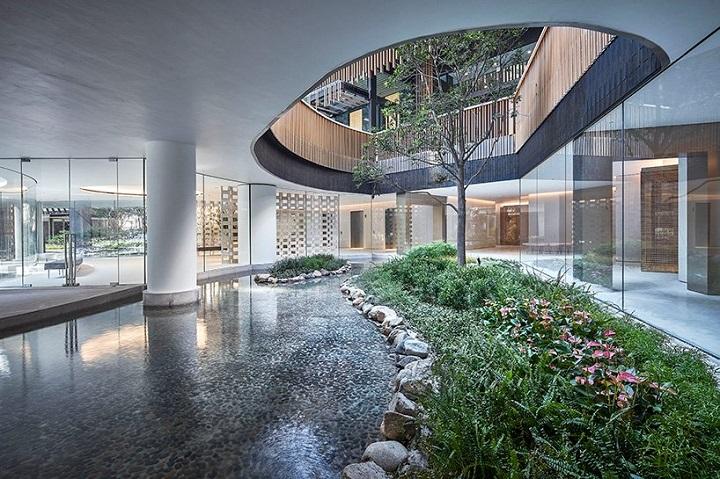 modèles de maisons jardins intérieurs