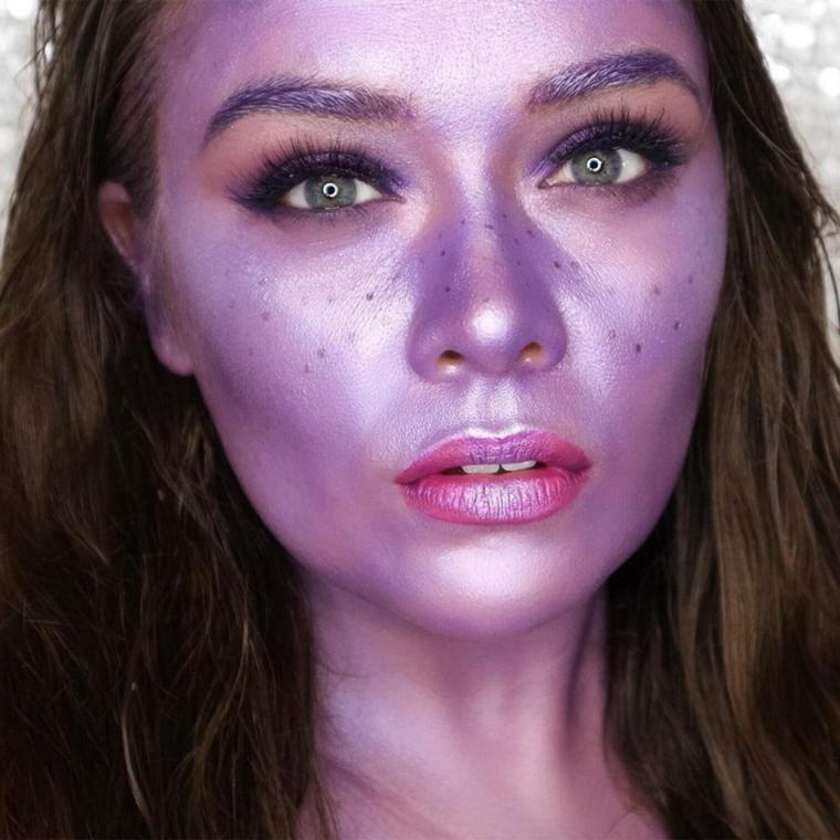 visage-couleurs vives-violet-clair-idées
