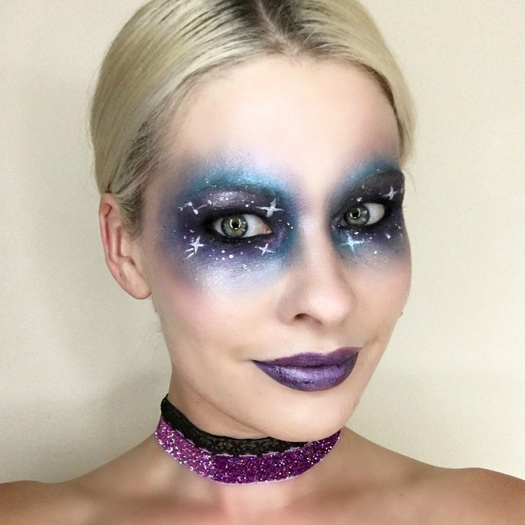 idées-maquillage-facile-cosmos-stars