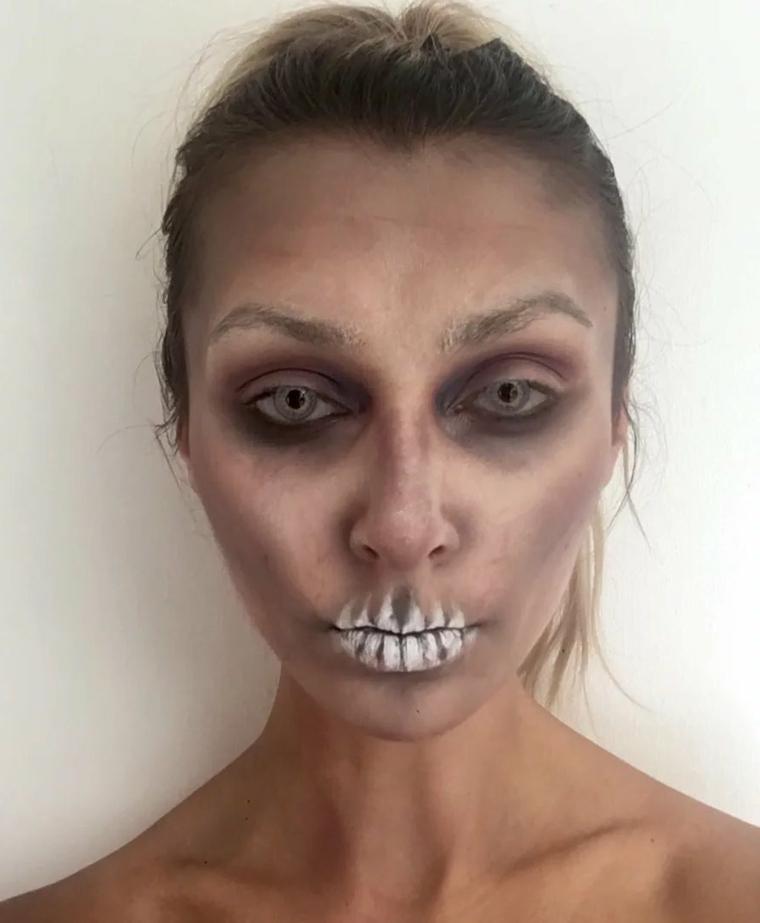 maquillage-zombie-idées-mort-halloween