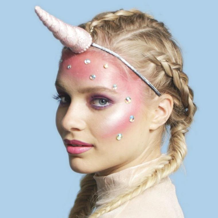 maquillage-du-jour-de-licorne morte