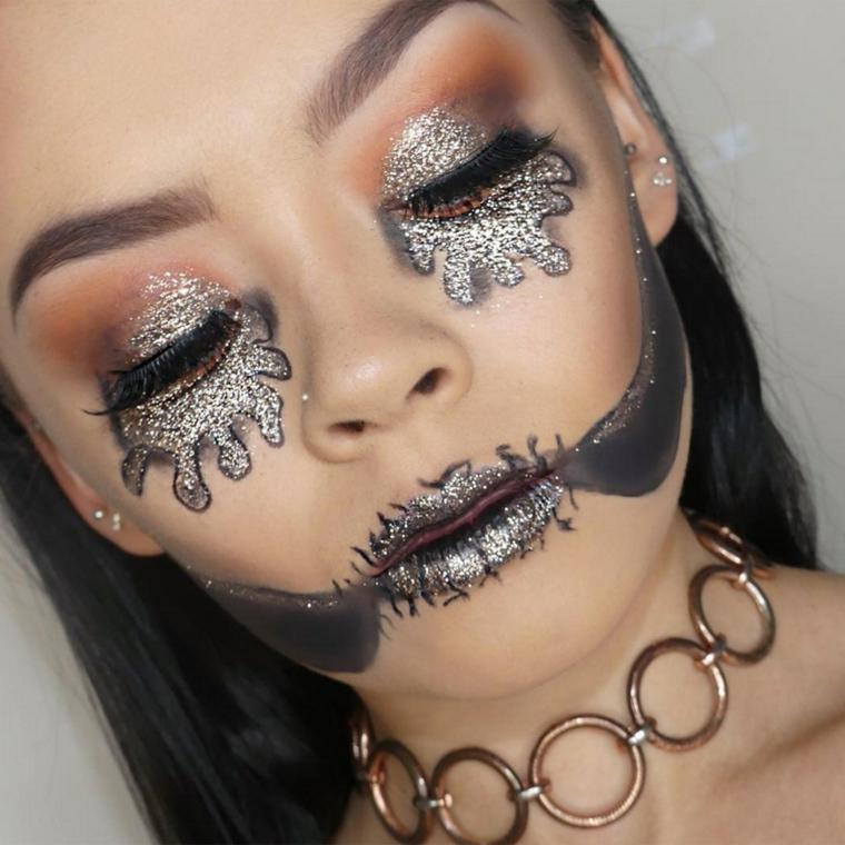 maquillage-halloween-luminosité-options-style moderne