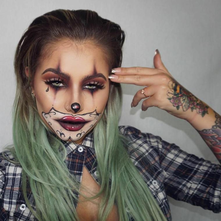 maquillage-halloween-bufon-ideas-atractivas