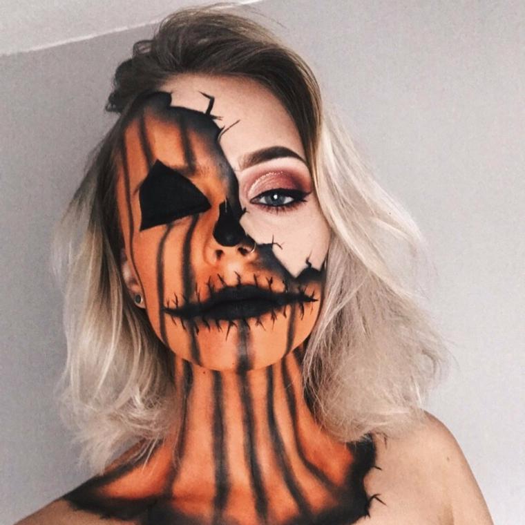 maquillage-halloween-citrouille-maléfique-options