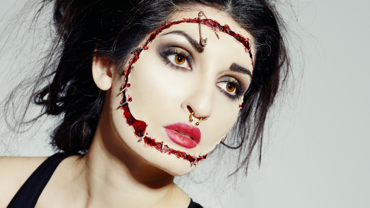 maquillage-halloween-cicatrices-visage-sang-idees