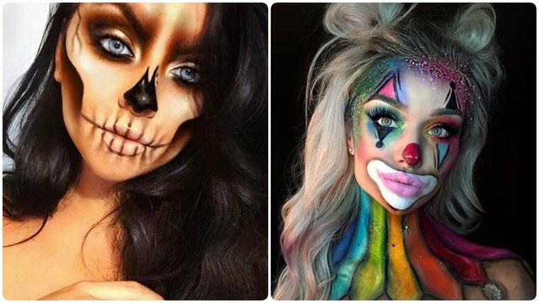 maquillage-halloween-deux-options-intéressant-filles