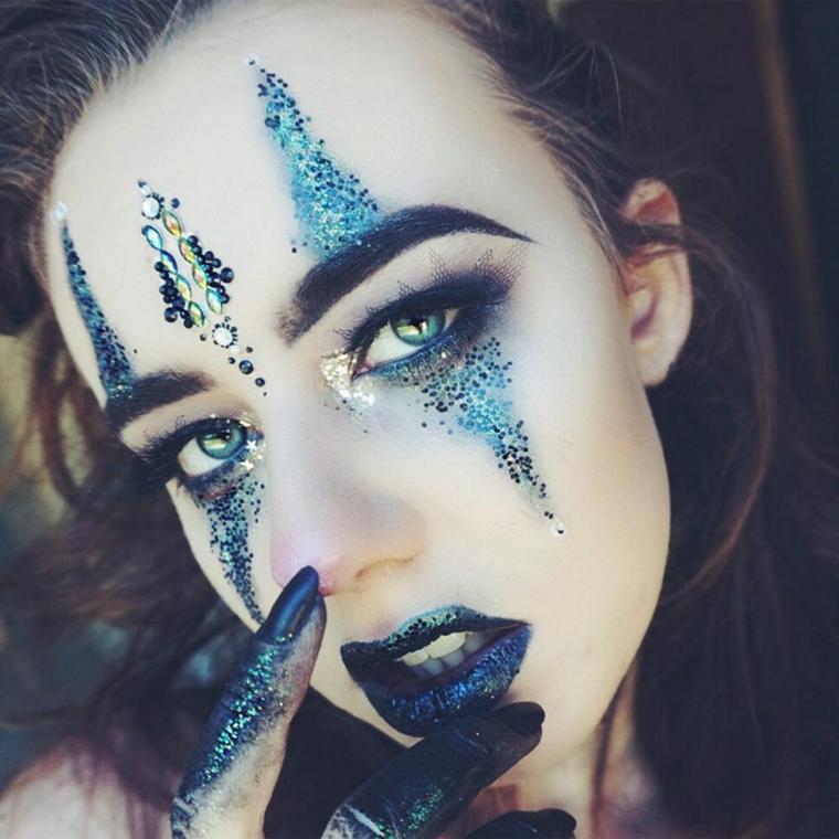 maquillage-halloween-idées-original-yeux