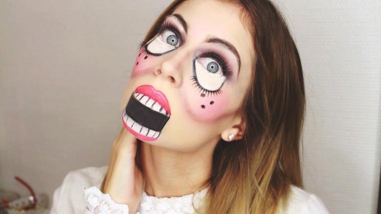 maquillage-halloween-interprétation-poupée-originale