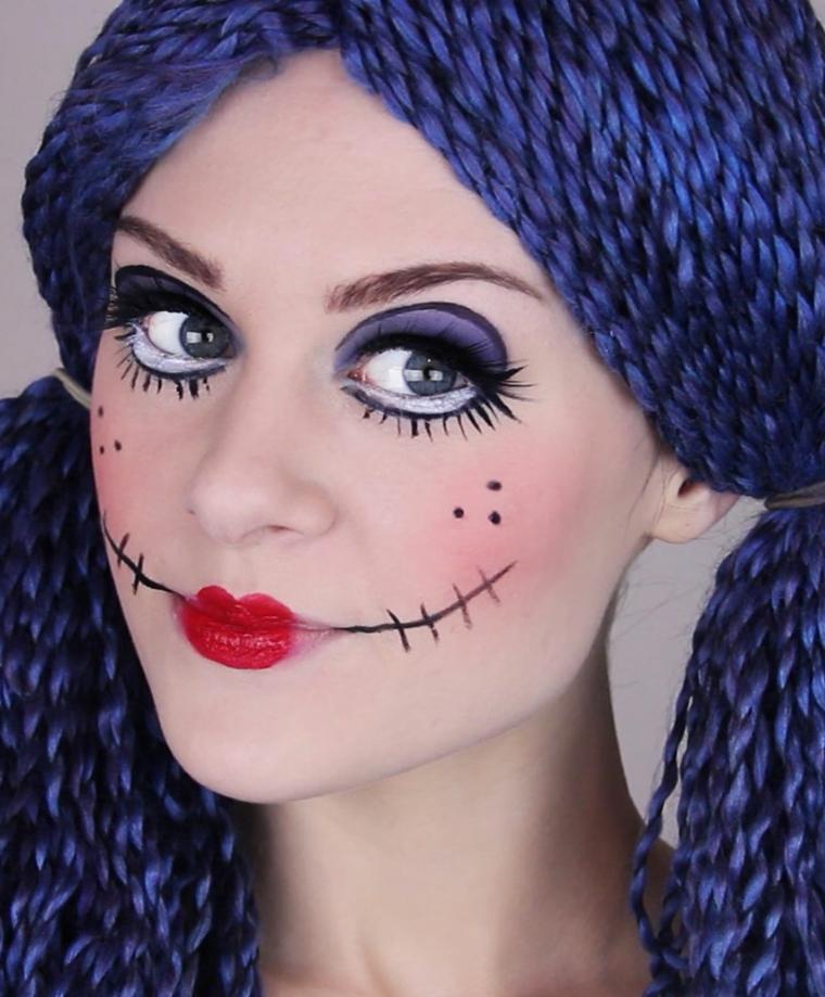 maquillage-halloween-poupée-options-idées