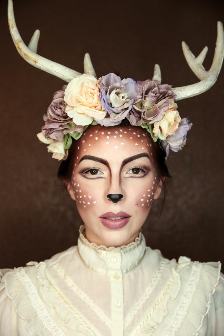 maquillage-helloween-fille-renne-belle