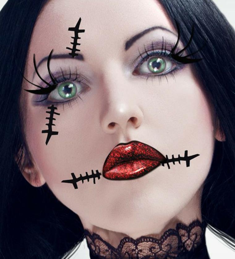 mort-visage-cassé-maquillage-jour-mort