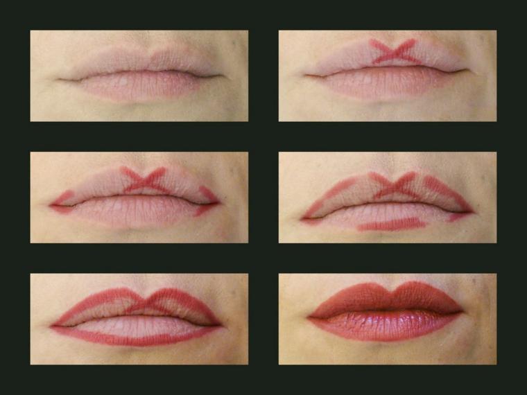 maquillage des lèvres-contours-facile