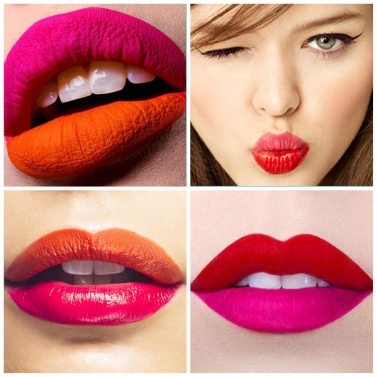étape par étape maquillage-couleurs-lèvres